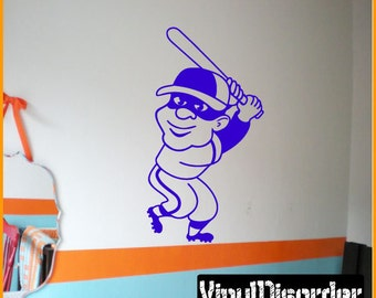 Baseball Player Vinyl Wall Decal or Car Sticker - BaseballMC002ET