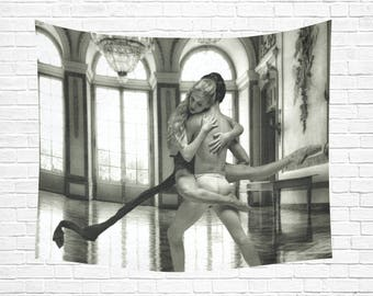 "Ballet Couple Wall Tapestry 60""x 51"" (4 colors)"