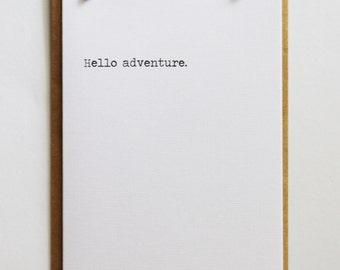 Hello adventure | Minimal Black and White | Keepsake Notes Greeting Card