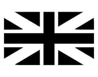 Flag United Kingdom Union Jack Die-Cut Decal Car Window Wall Bumper Phone Laptop