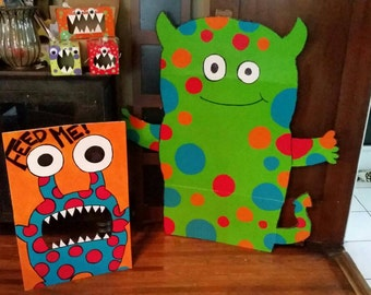 Monster Party Decor, photo prop, monster decorations