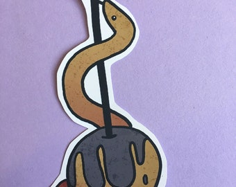 Snake on poison apple sticker
