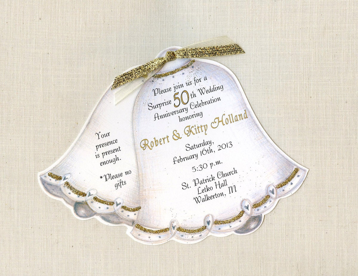 45 Personalized and Handcut Party Invitations 50th Wedding