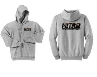 Nitro Boats Ash Grey Hoodie Sweatshirt