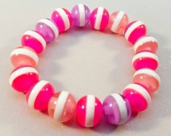 striped bangles elasticated,multi coloured,striped, stretch bangle,stretch bracelet,5 colour variations to choose from.