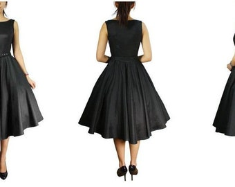 50s Style Belted Dress