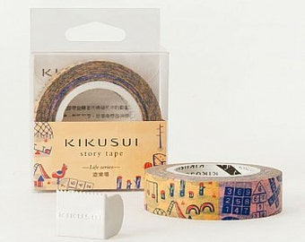 KIKUSUI story tape Japan Masking Tape / 15mm / 15M / Playground