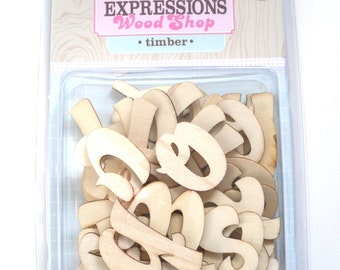 Pink Paislee Wood Shop Alphabet - TImber