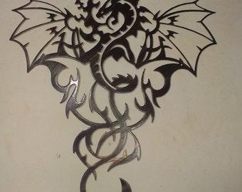 "Dragon Metal Art - Antique Look, 20"" (51 cm) Tall"
