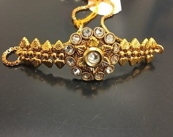 Handmade Golden bracelet,indian,traditional