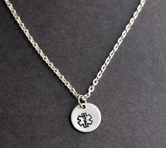 Ems necklace star of life necklace emt jewerly emergency aloadofball Images