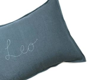 CUSTOM Handstitched Cushion cover- FRENCH BLUE