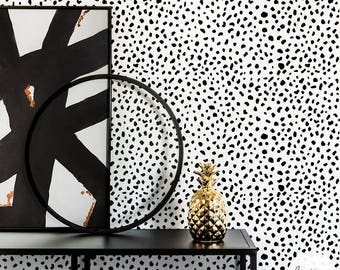 Dalmatian pattern wallpaper / Traditional or Removable Wallpaper