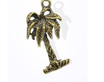 set of 10 charms Island coconut palm was bronze (R40)