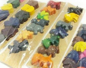 Dinosaur Crayons, Cars, Children's Present, Crayon Party Favors, Shaped Crayons, Stocking Stuffer, Birthday Gift, Owls, Robot, Bugs, Tea Set
