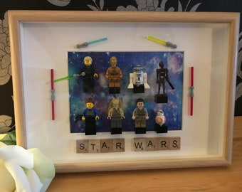 Framed Lego Star Wars Minifigures