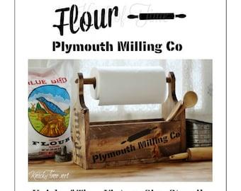 Farmhouse Flour Sack Stencil Home Decor Vintage Sign Stencils