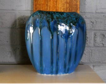 Turquoise – Silver Speckles - Glossy Blue – Matt Blue – Vase – Beautiful Colors – Handmade - Unique Gift - One of a Kind – Made in the USA