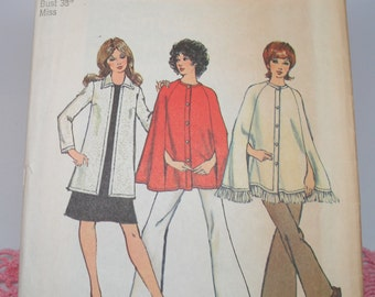 "Vintage Sewing Pattern Simplicity 9869 Size 16 Bust 38"" Miss Uncut from 1972"