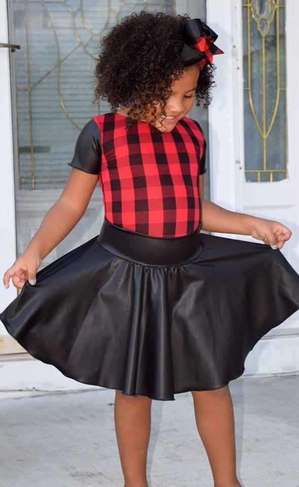 Girls Buffalo Plaid Leotard Amp Skirt Set Toddler Lumberjack