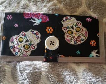 Sugar Skull Fabric Wallet