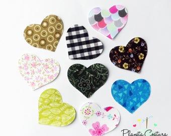 Hearts Applique, Fabric Applique, Iron On Applique, shirt applique, Appliques for Bibs, Bodysuits, Burp cloths, appliques, patch