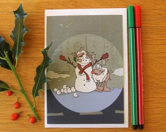 Christmas Card - Santa's Reindeer - Blitzen - Cute Card - Greetings Card