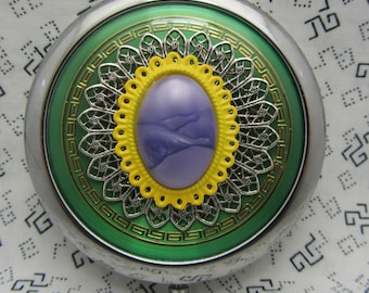 Compact Mirror Mardi Gras Bridesmaids Gift Comes With Protective Pouch 3