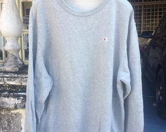 Vintage champion sweatshirt small logo saiz large rap tees hip hop swag
