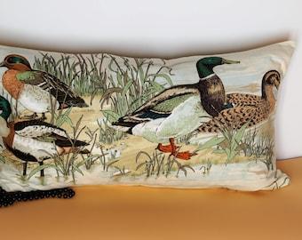 Head Pillow ducks and pond 60 cm x 35 cm cushion