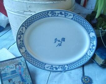 Vintage Blue and White Platter- Vintage Johnson Bros England The Exeter Platter