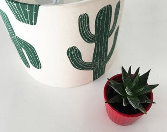Cactus Print Lampshade , Ceiling Light, Modern Lighting