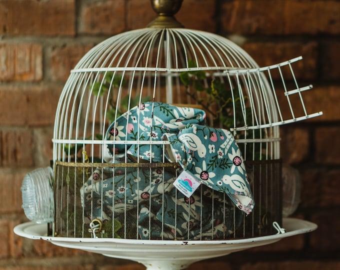 bird floral | organic cotton t-shirt hair towel