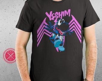 We Are Yoshim! Yoshi /  Venom / Venomverse / MashUp / Men and Women's Fitted T Geekery / Geekdom / Nostalgia by Tom Ryan's Studio