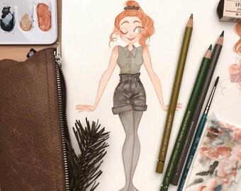 Dessin fille Fashion