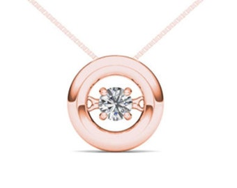 10Kt Rose Gold 0.10 Ct Diamond In Motion Pendant