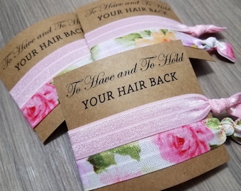 Hair Tie Bridal Shower Favor | Bridesmaid Hair Tie Favor | To Have and To Hold Favors | Hair Tie Bridesmaid Gift