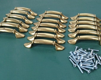 Vintage Brass Cabinet Pull, Amerock Dresser Drawer Pulls, Cabinet Hardware - Pulls Sold Singly, Multiple Available