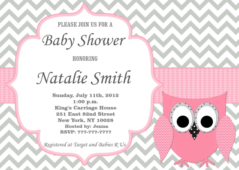 Eule-Baby-Dusche-Einladung-Mädchen-Baby-Dusche-Einladungen