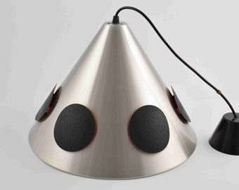 Great vintage pendant lamp, hanging light attributed to Doria or Lakro