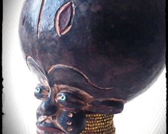 Bamun african tribal fetish, fétiche tribal africain, african ethnic art, Cameroon, Africa