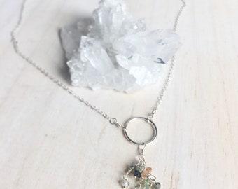 Tourmaline Sterling Necklace, Tourmaline Necklace, Sterling Necklace, Tourmaline Gemstones, Wire Wrapped Gemstones