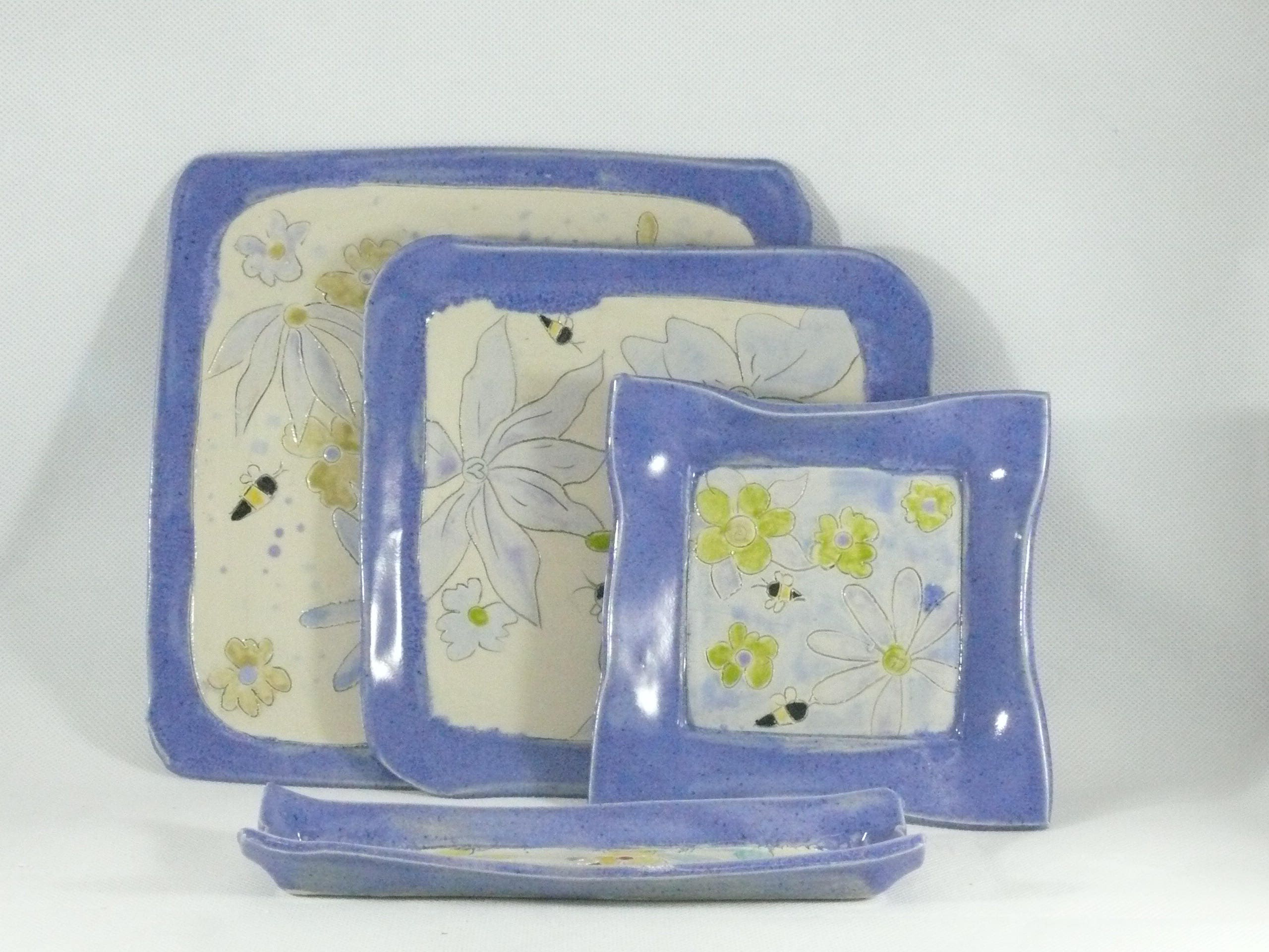 Request a custom order and have something made just for you. & Square plates Ceramic Dinnerware set Serving tray cheese