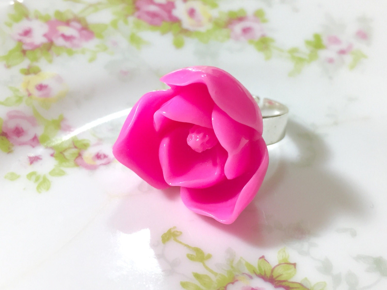 Pink lotus flower ring huge pink flower ring pink flower statement pink lotus flower ring huge pink flower ring pink flower statement ring big pink flower ring bright pink lotus ring kreatedbykelly mightylinksfo