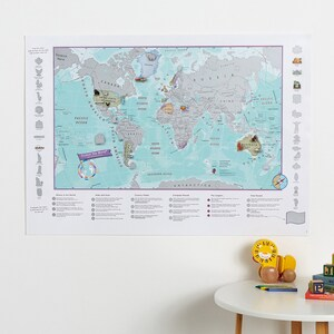 Geographic map etsy scratch the world activity adventure map kids world map wall hanging learning gumiabroncs Image collections