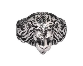Gents Panther Ring Stainless Steel Motorcycle Jewelry