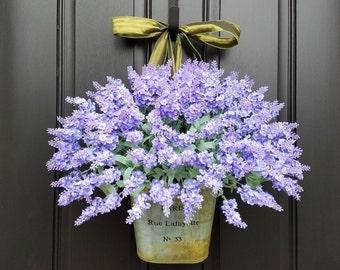 Lavender Wreaths, Lavender Fields, Spring Flowers, Summer Bouquet, Spring Wall Pocket, Twoinspireyou Wreaths