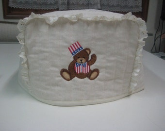 4 Slice Square Toaster Cover2 sided (Easter and July 4th)Design