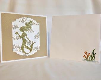 Happy Birthday Mermaids, Handmade Card
