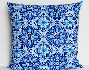 Blue Pillow Cover, Royal Blue Pillow, Cobalt Throw Pillow, 16x16 18x18 20x20 22x22 12x14 12x16 12x18 12x20 14x22 Navy Aqua Zipper